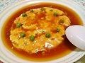 (中国料理)かに玉あんかけ&ワンタンスープ